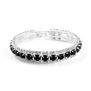 Jewelry - Black Rhinestone Crystal Open Bracelet